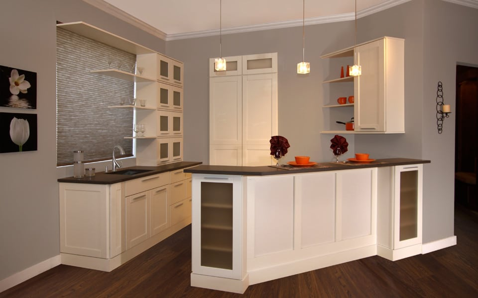 Fabuwood Shaker Linen1 Stock Kitchen Cabinets