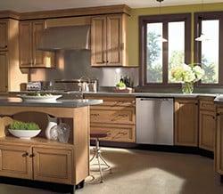 Home Crest Eastport Maple Ginger Ebony 2 Semi Custom Kitchen Cabinets