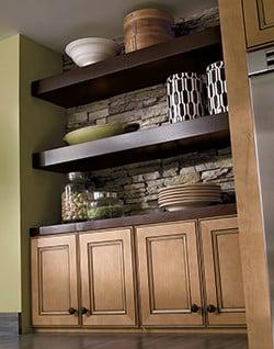Home Crest Eastport Maple Ginger Ebony 3 Semi Custom Kitchen Cabinets