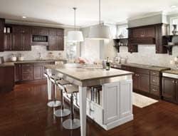 Homecrest Heritage Cherry Burgendy Maple Alpine Semi Custom Kitchen Cabinets