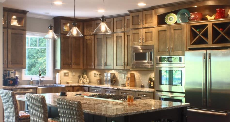 Kith Homestead II Maple Nutmeg Semi Custom Kitchen Cabinets