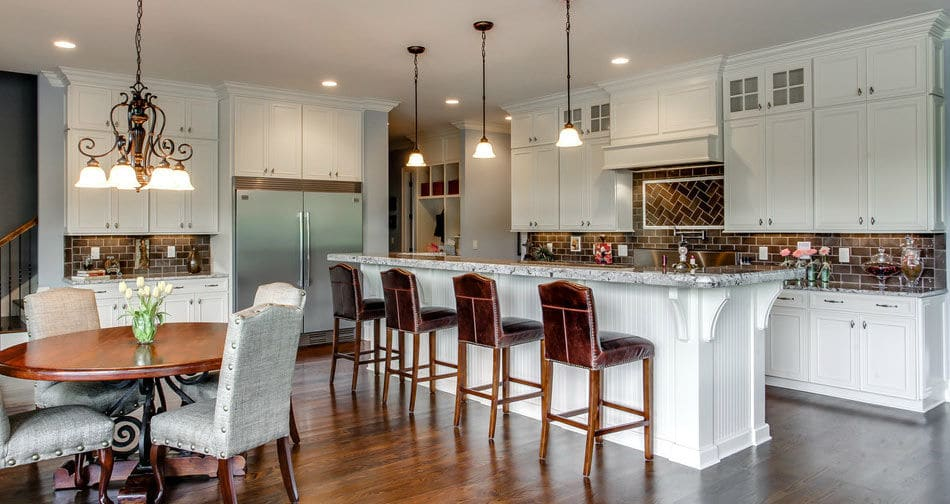 Kith Ridgewood Maple Bright White Semi Custom Kitchen Cabinets