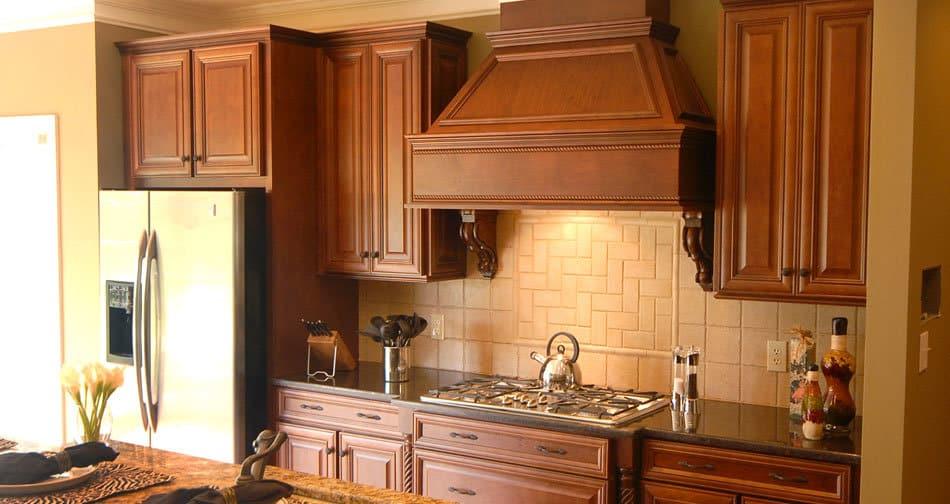Kith Savannah Maple Ginger Chocolate Glaze Semi Custom Kitchen Cabinets