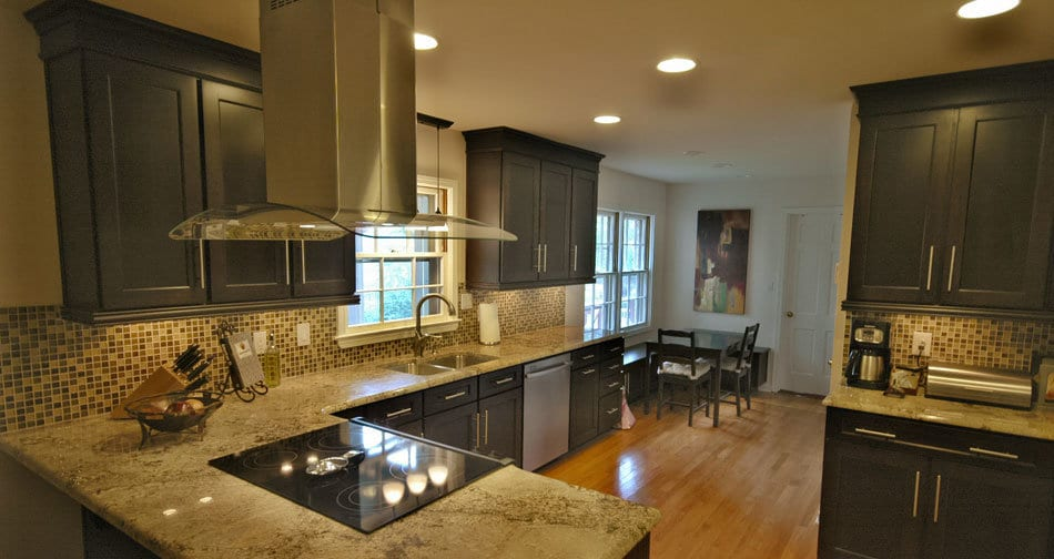 Kith Shaker Maple Charcoal Semi Custom Kitchen Cabinets