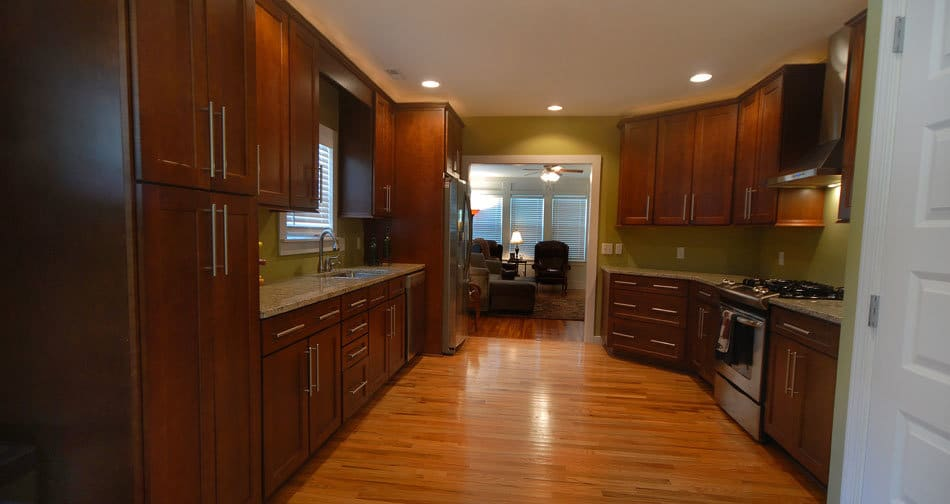 Kith Shaker Maple Merlot Semi Custom Kitchen Cabinets