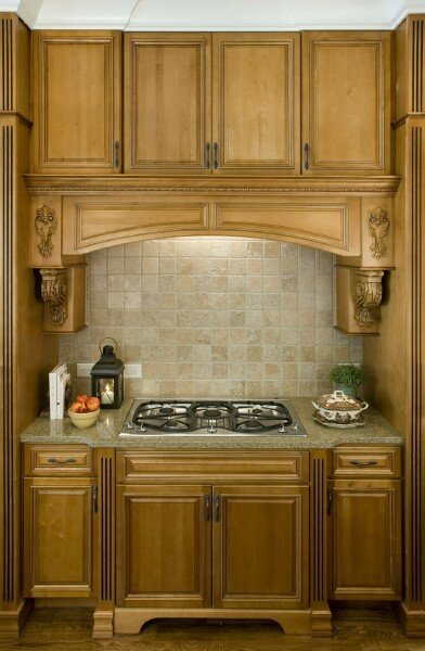 Timberland Ginger with Pen Glaze Standard Finish1 Stock Kitchen Cabinets