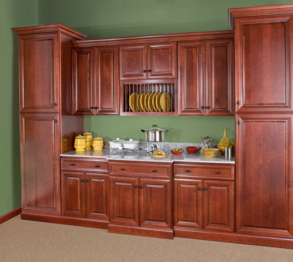 Wolf Hudson Crimson Chocolate Stock Kitchen Cabinets