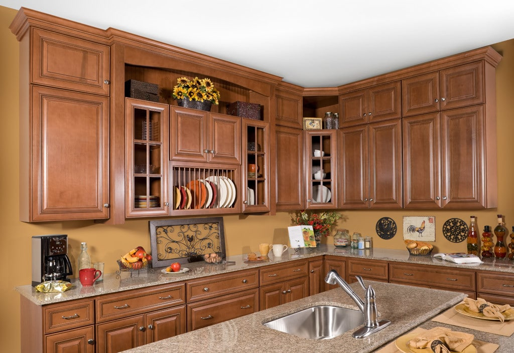 Wolf Hudson Heritage Brown Chocolate Stock Kitchen Cabinets