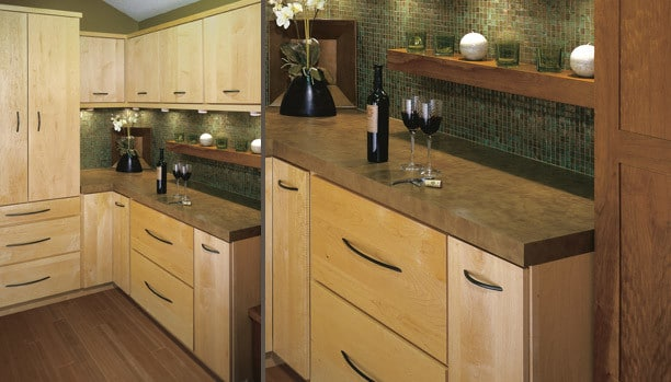 Woodland Cascade Maple Natural Mission Cherry Cider Custom Kitchen Cabinets
