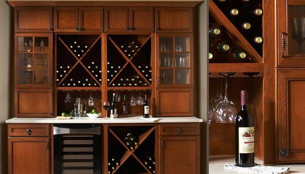 Woodland Classic Cherry Mocha Chocolate 2 Custom Kitchen Cabinets