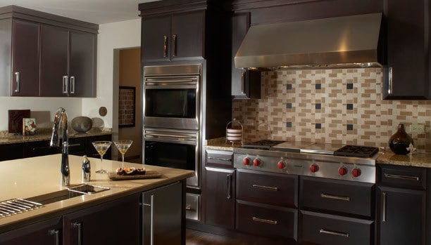Woodland Fresco Cherry Espresso Custom Kitchen Cabinets